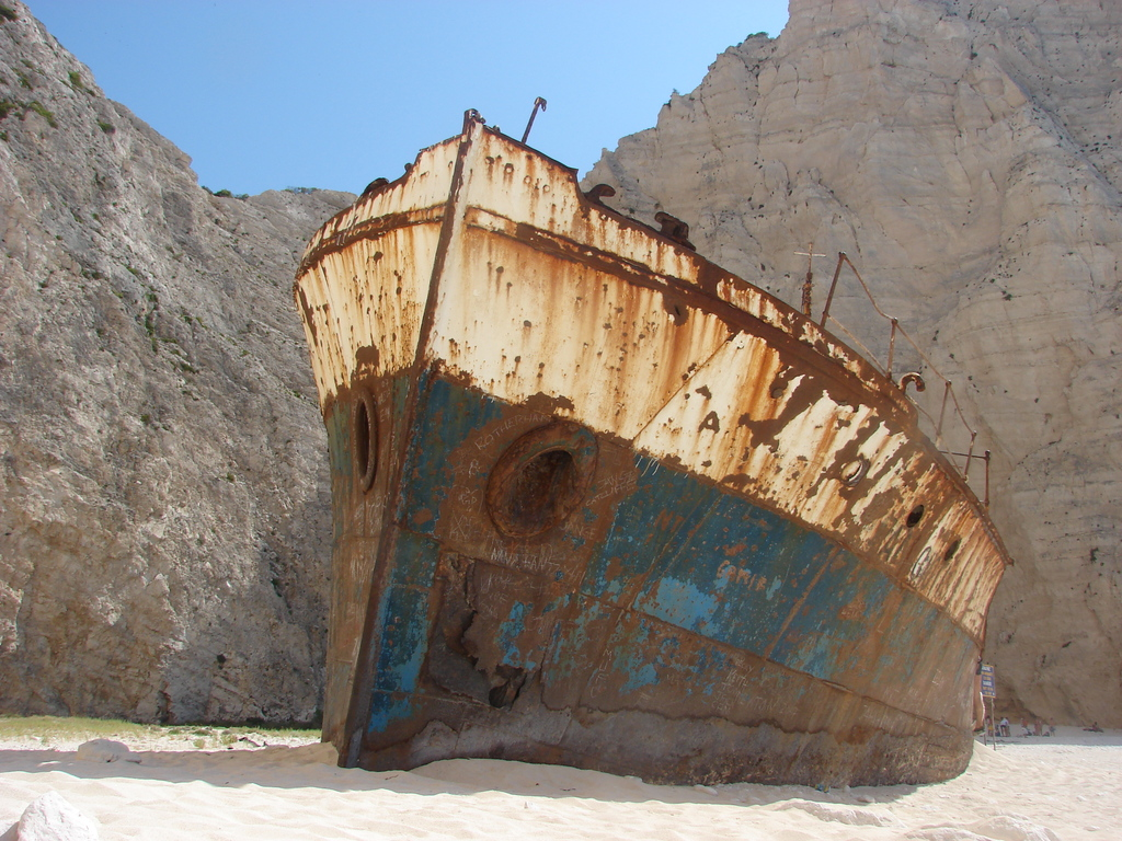 остров Закинф бухта Навагио
